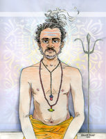 Illustration of an ascetic worshiper of Lord Shiva of Hinduism