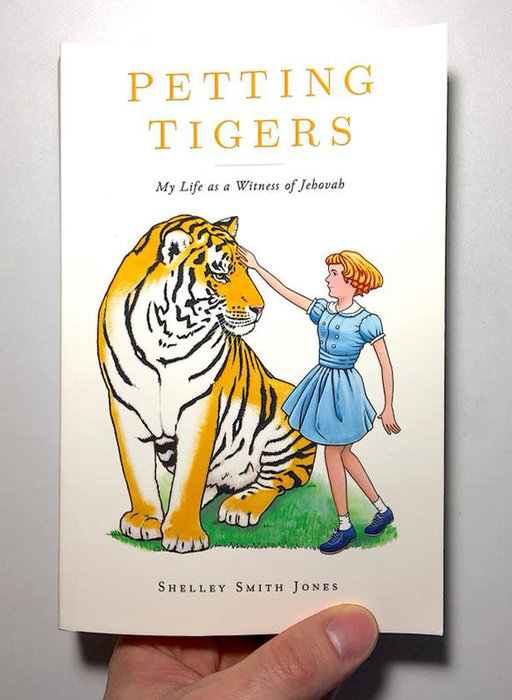 Petting Tigers printed book cover art by David Oliver